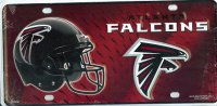 Atlanta Falcons Metal License Plate