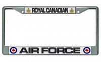 Royal Canadian Air Force Chrome License Plate Frame