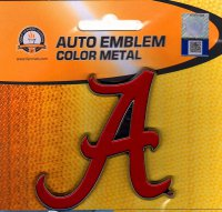 Alabama Crimson Tide 3-D Color Metal Auto Emblem