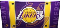 Los Angeles Lakers Metal License Plate