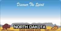 Design It Yourself North Dakota State Look-Alike Bicycle Plate