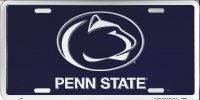 Penn State Blue License Plate