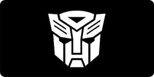 Transformers Autobot Photo License Plate