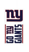New York Giants Double Up Die Cut Vinyl Stickers