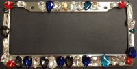 Assorted Crystals Diamond Bling License Plate Frame
