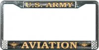 U.S. Army Aviation License Plate Frame