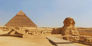 Giza Pyramid And Sphinx Photo License Plate