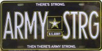 Army Strong Metal License Plate