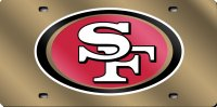 San Francisco 49'ers Gold Laser License Plate
