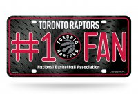 Toronto Raptors #1 Fan Metal License Plate