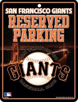 San Francisco Giants Metal Reserved Parking Sign