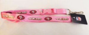 San Francisco 49ers Pink Lanyard With Safety Fastener