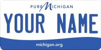 Pure Michigan Blank Photo License Plate