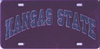 Kansas State Wildcats Purple Laser License Plate