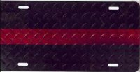 Fallen Fire Fighter Red Stripe License Plate