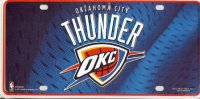 Oklahoma City Thunder Blue License Plate