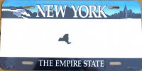 New York The Empire State Metal License Plate