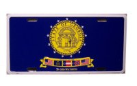 Georgia State Seal 1776 Metal License Plate