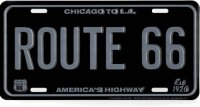 Route 66 Tactical Metal License Plate