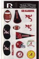 Alabama Crimson Tide Variety Pack Tattoo Set