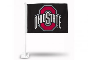 Ohio State Buckeyes Black Car Flag