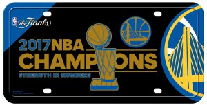 Golden State Warriors 2017 NBA Finals Champs Metal License Plate [MTG960WC17]