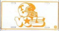 Tennessee Vols Helmet White License Plate