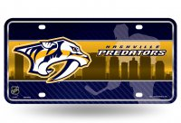 Nashville Predators Metal License Plate
