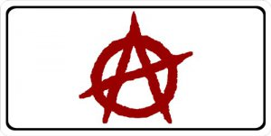 Anarchy Logo Photo License Plate