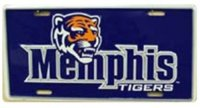 Memphis State Tigers Metal License Plate