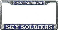 173rd Airborne Sky Soldiers License Plate Frame