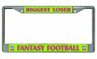 Biggest Loser #3 Fantasy Football Chrome License Plate Frame