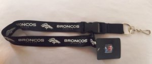 Denver Broncos Blackout Lanyard With Safety Latch