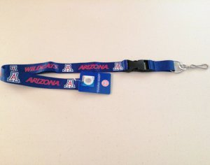 Arizona Wildcats Blue Lanyard With Safety Fastener