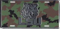 LSU Tigers Aluminum Camouflage Team Plate