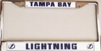 Tampa Bay Lightning Chrome License Plate Frame