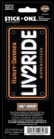 Harley-Davidson Live 2 Ride Tag Look Stick Onz Decal