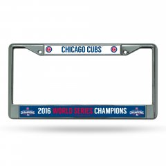 Chicago Cubs World Series Champs Chrome License Plate Frame