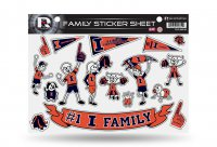 Illinois Fighting Illini Family Decal Set