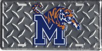 Memphis State Tigers (Diamond) License Plate