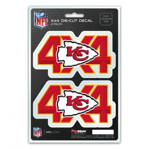 Kansas City Chiefs 4x4 Decal Pack