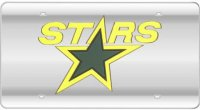 Dallas Stars (Silver) Laser License Plate