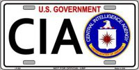 CIA … Metal Novelty License Plate