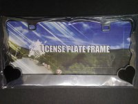 Black Hearts On Chrome License Plate Frame