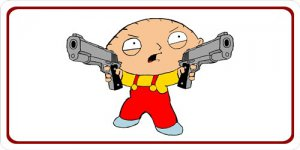 Stewie Griffin Photo License Plate