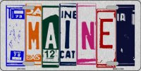 Maine Cut Style Metal License Plate