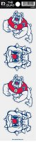Fresno State Bulldogs Quad Decal Set