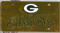 Green Bay Packers 2011 Super Bowl Laser Plate