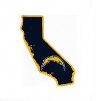 Los Angeles Chargers Home State Vinyl Sticker