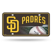 San Diego Padres Metal License Plate